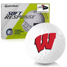 Taylor Made Soft Response Wisconsin Badgers Golf Ball