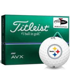 Titleist AVX Pittsburgh Steelers Golf Balls
