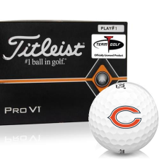 Titleist Pro V1 Player Number Chicago Bears Golf Balls - All #1's