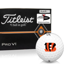 Titleist Pro V1 Player Number Cincinnati Bengals Golf Balls - All #1's