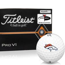Titleist Pro V1 Player Number Denver Broncos Golf Balls - All #1's