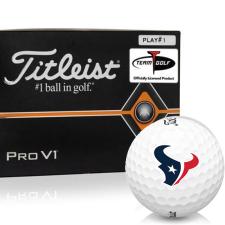 Titleist Pro V1 Player Number Houston Texans Golf Balls - All #1's