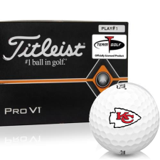Titleist Pro V1 Player Number Kansas City Chiefs Golf Balls - All #1's