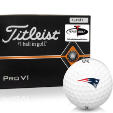 Titleist Pro V1 Player Number New England Patriots Golf Balls - All #1's