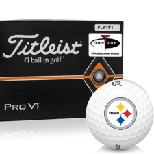 Titleist Pro V1 Player Number Pittsburgh Steelers Golf Balls - All #1's