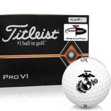 Titleist Pro V1 Player Number US Marine Corps Golf Balls - All #1's