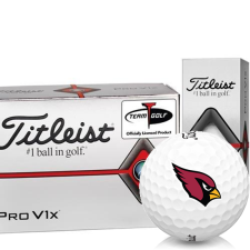 Titleist Pro V1x Half Dozen Arizona Cardinals Golf Balls - 6 Pack