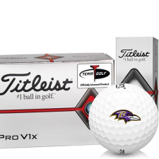 Titleist Pro V1x Half Dozen Baltimore Ravens Golf Balls - 6 Pack