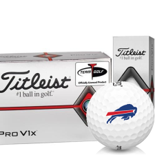 Titleist Pro V1x Half Dozen Buffalo Bills Golf Balls - 6 Pack