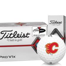 Titleist Pro V1x Half Dozen Calgary Flames Golf Balls - 6 Pack