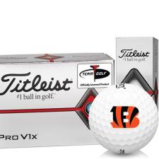 Titleist Pro V1x Half Dozen Cincinnati Bengals Golf Balls - 6 Pack
