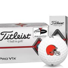 Titleist Pro V1x Half Dozen Cleveland Browns Golf Balls - 6 Pack