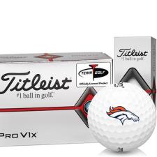 Titleist Pro V1x Half Dozen Denver Broncos Golf Balls - 6 Pack