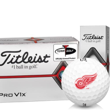 Titleist Pro V1x Half Dozen Detroit Red Wings Golf Balls - 6 Pack