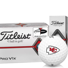 Titleist Pro V1x Half Dozen Kansas City Chiefs Golf Balls - 6 Pack