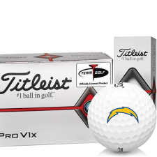 Titleist Pro V1x Half Dozen Los Angeles Chargers Golf Balls - 6 Pack