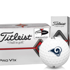Titleist Pro V1x Half Dozen Los Angeles Rams Golf Balls - 6 Pack