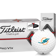 Titleist Pro V1x Half Dozen Miami Dolphins Golf Balls - 6 Pack