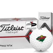 Titleist Pro V1x Half Dozen Minnesota Wild Golf Balls - 6 Pack