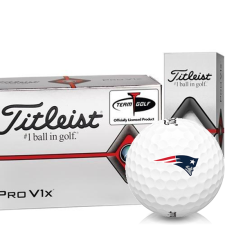 Titleist Pro V1x Half Dozen New England Patriots Golf Balls - 6 Pack