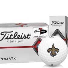 Titleist Pro V1x Half Dozen New Orleans Saints Golf Balls - 6 Pack