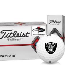 Titleist Pro V1x Half Dozen Oakland Raiders Golf Balls - 6 Pack