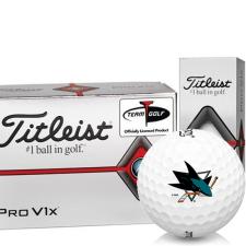 Titleist Pro V1x Half Dozen San Jose Sharks Golf Balls - 6 Pack