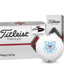 Titleist Pro V1x Half Dozen US Coast Guard Golf Balls - 6 Pack