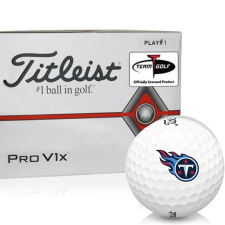 Titleist Pro V1x Player Number Tennessee Titans Golf Balls - All #1's