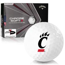 Callaway Golf Chrome Soft X Cincinnati Bearcats Golf Balls