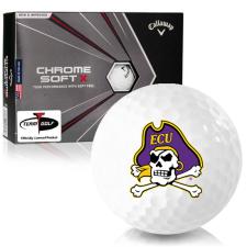 Callaway Golf Chrome Soft X East Carolina Pirates Golf Balls