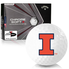 Callaway Golf Chrome Soft X Illinois Fighting Illini Golf Balls