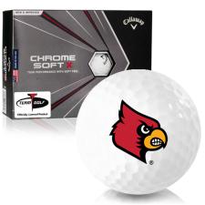 Callaway Golf Chrome Soft X Louisville Cardinals Golf Balls