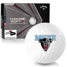 Callaway Golf Chrome Soft X Maine Black Bears Golf Balls