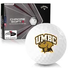 Callaway Golf Chrome Soft X Maryland Baltimore County Retrievers Golf Balls
