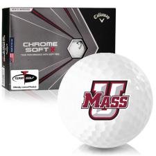 Callaway Golf Chrome Soft X UMass Minutemen Golf Balls