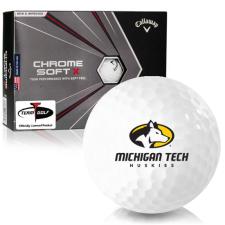 Callaway Golf Chrome Soft X Michigan Tech Huskies Golf Balls