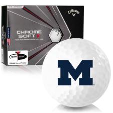 Callaway Golf Chrome Soft X Michigan Wolverines Golf Balls