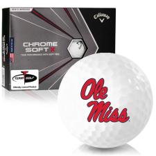 Callaway Golf Chrome Soft X Ole Miss Rebels Golf Balls