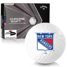 Callaway Golf 2020 Chrome Soft X New York Rangers Golf Balls