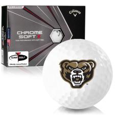 Callaway Golf Chrome Soft X Oakland Golden Grizzlies Golf Balls