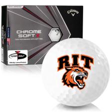 Callaway Golf Chrome Soft X RIT - Rochester Institute of Technology Tigers Golf Balls