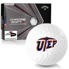 Callaway Golf Chrome Soft X Texas El Paso Miners Golf Balls