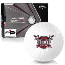 Callaway Golf Chrome Soft X Troy Trojans Golf Balls