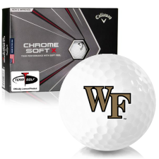 Callaway Golf Chrome Soft X Wake Forest Demon Deacons Golf Balls