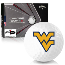 Callaway Golf Chrome Soft X West Virginia Mountaineers Golf Balls