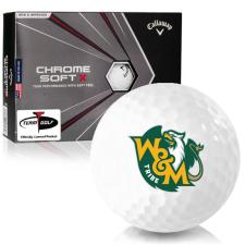 Callaway Golf Chrome Soft X William & Mary Tribe Golf Balls