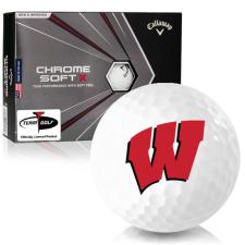 Callaway Golf Chrome Soft X Wisconsin Badgers Golf Balls