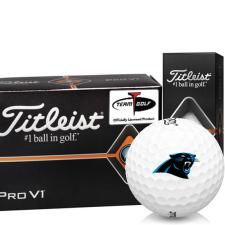 Titleist Pro V1 Half Dozen Carolina Panthers Golf Balls - 6 Pack