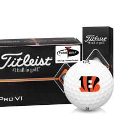 Titleist Pro V1 Half Dozen Cincinnati Bengals Golf Balls - 6 Pack